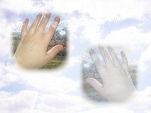 Hand mit Verbandvoreinstellung Stockfoto