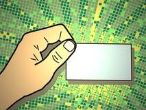Hand mit Visitenkarte Lizenzfreies Stockfoto