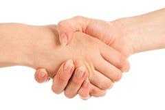 Hand mit zwei Frauen Stockbilder