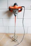 Hand mixer for mixing concrete Royalty Free Stock Photos