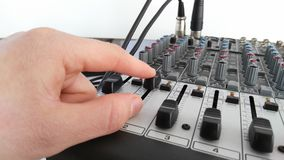 Hand on a mixer Stock Images