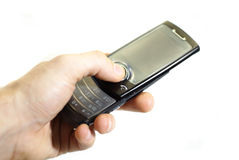 Hand with mobile phone Royalty Free Stock Images