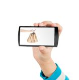 Hand and mobile phone Royalty Free Stock Images