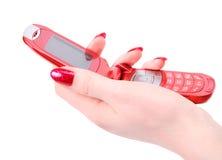 hand mobile phone red woman Στοκ Εικόνα