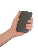 Hand with a mobile phone Royalty Free Stock Image