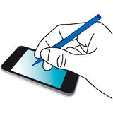Hand mobile touch screen Royalty Free Stock Photo