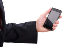 Hand and mobilephone Stock Photo