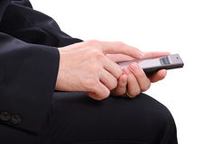 Hand and mobilephone Royalty Free Stock Images