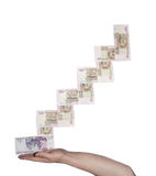 Hand and money Stock Photo