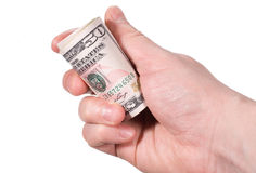 Hand with money Stock Image