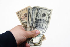 Hand with money Royalty Free Stock Photo