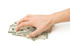 Hand and money Royalty Free Stock Photos