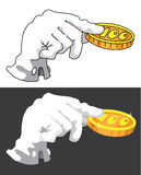 Hand and money Royalty Free Stock Photo