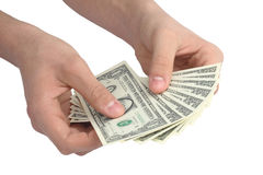 Hand with money stock images