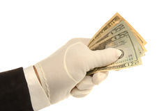Hand & Money Royalty Free Stock Photo