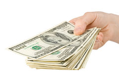 Hand with money Stock Photography