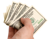Hand with money Royalty Free Stock Photos