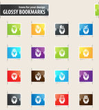 Hand and Money Bookmark Icons Stock Photos