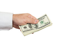 Hand with money Royalty Free Stock Photography