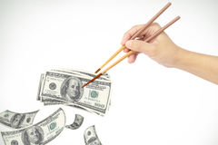 Hand and money Royalty Free Stock Image