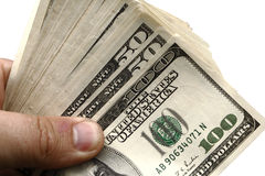 Hand with money dollar Royalty Free Stock Photo