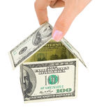 Hand and money house Royalty Free Stock Photos