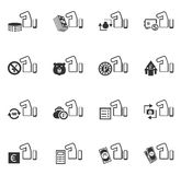 Hand and money icons set Royalty Free Stock Images