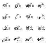 Hand and money icons set Royalty Free Stock Image