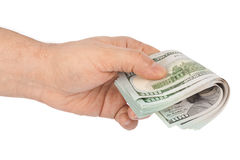 Hand with money Stock Photo