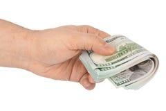 Hand with money Stock Photo