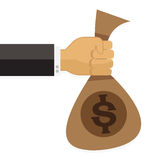 Hand money to other Set eps10 Vector illustration Stock Photography