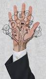 Hand with money tree Stock Image
