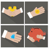 Hand and money Royalty Free Stock Photography