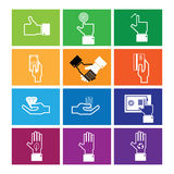 Hand money and wealth icons Stock Photography