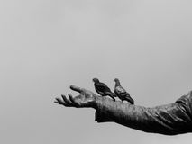 Hand of monument Royalty Free Stock Photos