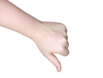 Hand-motvilja Fotografering för Bildbyråer