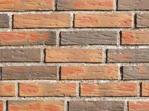 Hand Moulded Bricks. Piece of a wall build of hand moulded bricks Royalty Free Stock Images