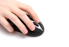 Hand and Mouse royalty free stock photos
