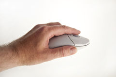 Hand with  mouse Royalty Free Stock Photo