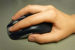 Hand with mouse Royalty Free Stock Image