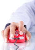Hand mouse computer Royalty Free Stock Photo