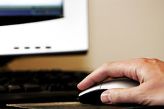 Hand Mouse Computer Stock Photos