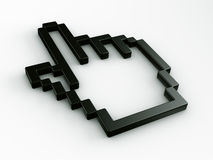 Hand mouse cursor in 3d Stock Image