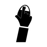 hand and mouse icon image Royalty Free Stock Images