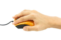 Hand on mouse Royalty Free Stock Photos