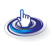 Hand mouse symbol Stock Image
