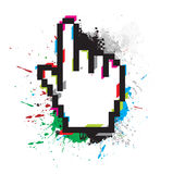 Hand mouse symbol Royalty Free Stock Image