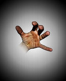 Hand moving from screen Royalty Free Stock Photography