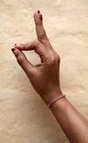 Hand mudra Stock Image