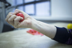 Hand muscle injury strain pain physiotherapy treatment Royalty Free Stock Photography